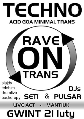 Rave on Trans - Gwint - Plakat